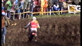 1985 Grand Prix 125cc Motocross Hoesselt (B) met Dave Strijbos en John van den Berk