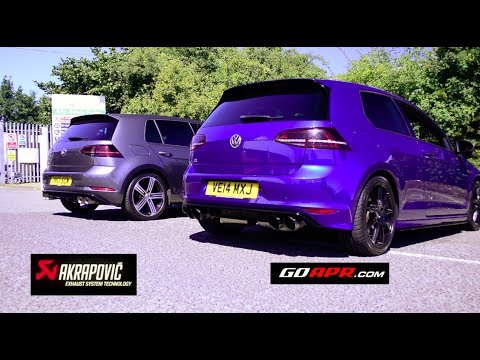 best sounding golf r mk7 exhaust apr vs akrapovic youtube. Black Bedroom Furniture Sets. Home Design Ideas