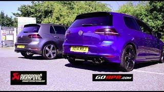 Best Sounding Golf R MK7 Exhaust? APR vs Akrapovic.