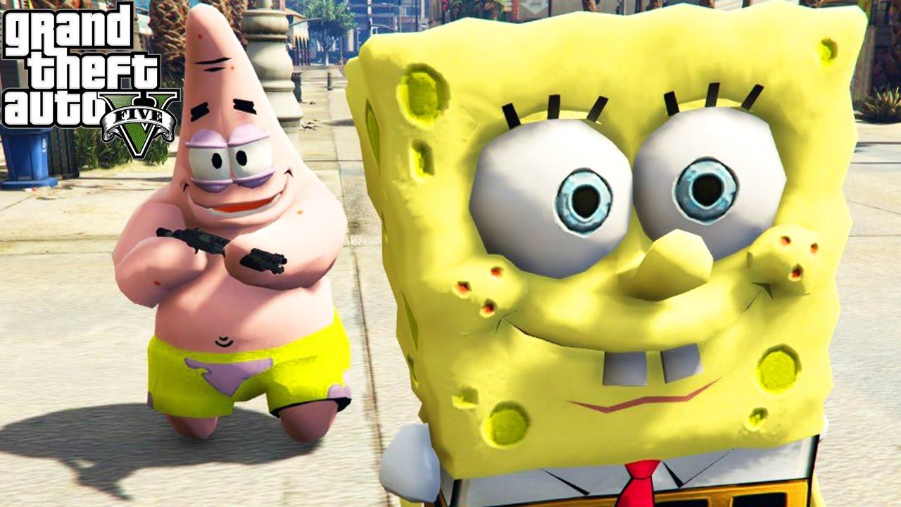 Gta  Mods Spongebob Mod Gta  Spongebob Squarepants Patrick Star Funny Moments Compilation