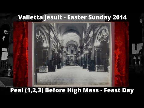 Valletta Jesuit Church - Circumcision Lord - Feast Risen Christ 2014 1 Peal 1,2,3 3 Bells 7