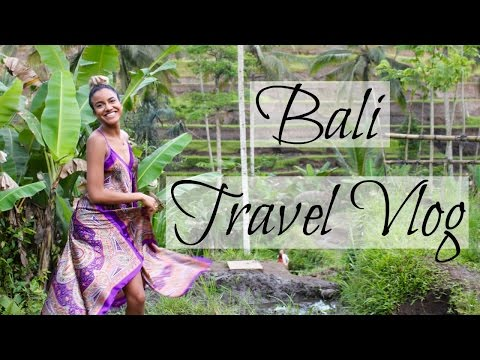 Bali Travel Vlog || Ubud, Indonesia Markets Rice Terraces
