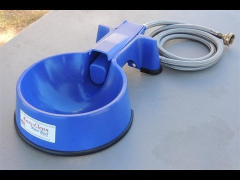 auto fill dog water bowl easy clean auto fill water bowl demonstration 7521