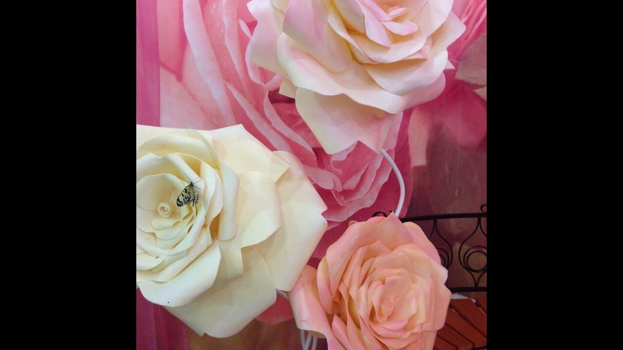 Как сделать розу из изолона видео