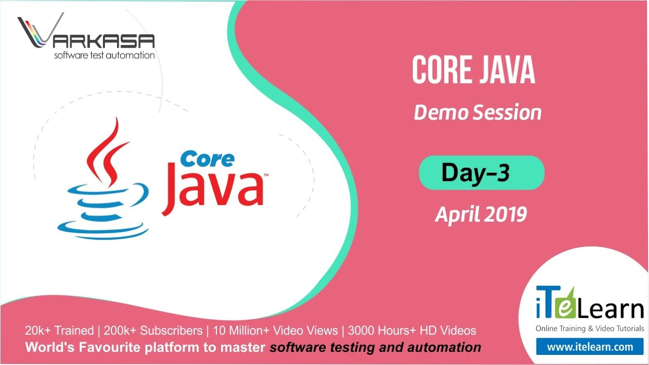 Core Java Day-03 Demo Session - April 2019 - YouTube
