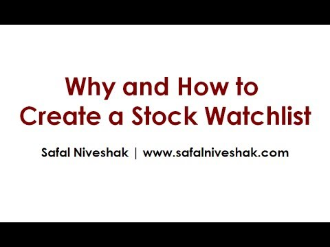 How to Create a Stock Watchlist in Google Spreadsheet