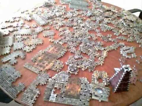 5 Jigsaw Puzzle Time Lapse 3d Castle Youtube
