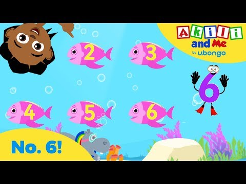 The Number 6 Song | Learn to Count with Akili and Me | Cartoons for Preschoolers