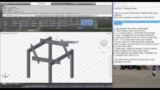 AutoCAD - Drawing a table - compare Sketchup