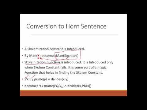 Horn Sentences , Unification & Substitution | Lecture 5