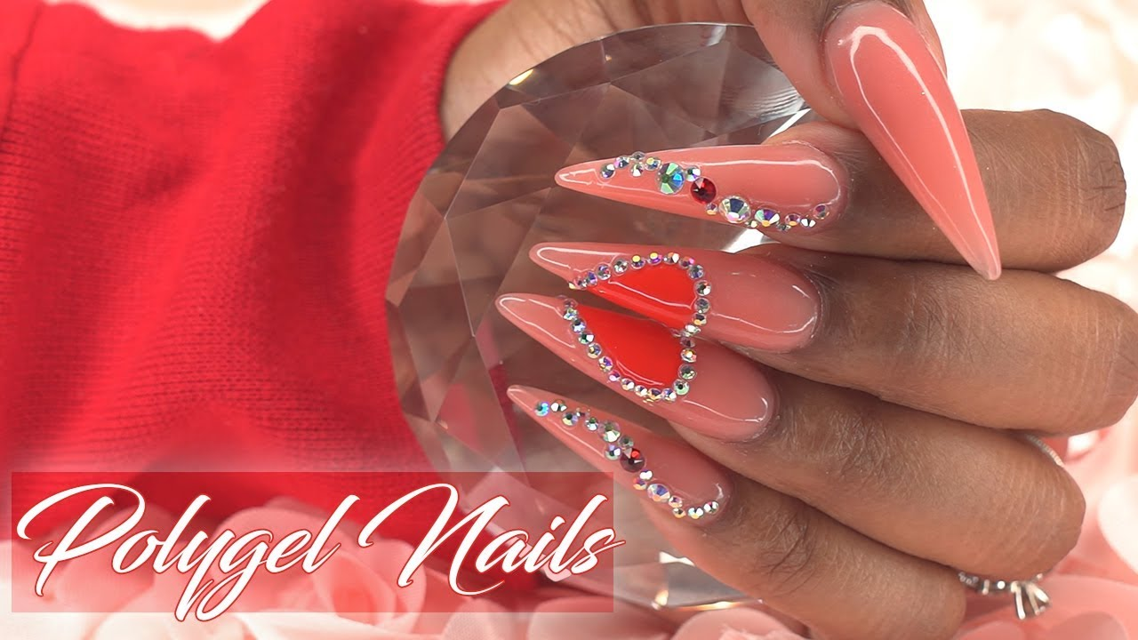 Polygel Nails For Beginners Valentine S Day Inspired Nails