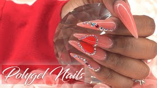 PolyGel Nails for Beginners - How to Polygel Nail Tutorial with Nail Tips
