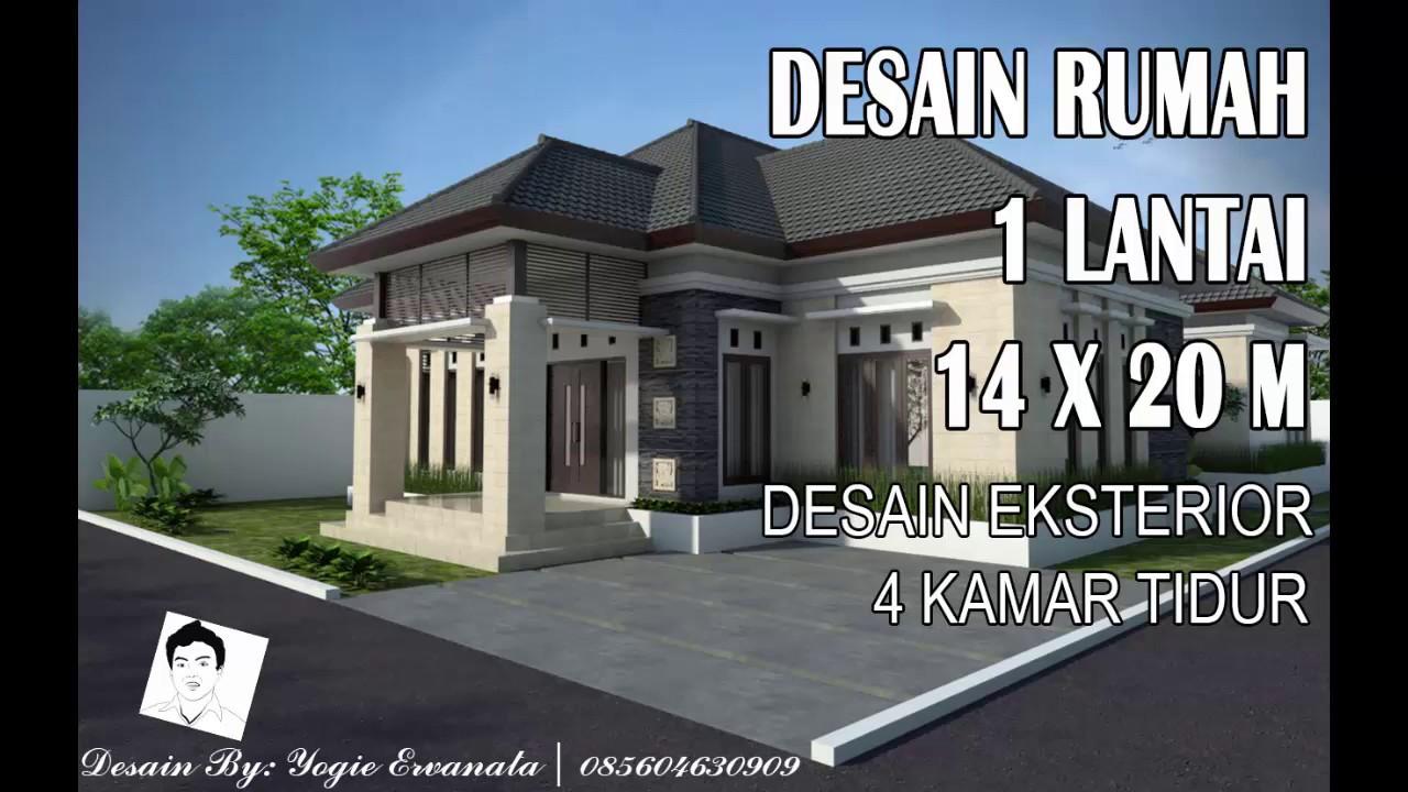 DESAIN RUMAH 1 LANTAI 14 X 20 M Desain Eksterior YouTube