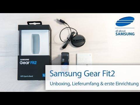 Samsung Gear Fit2 Unboxing Lieferumfang & Einrichtung deutsch 4k
