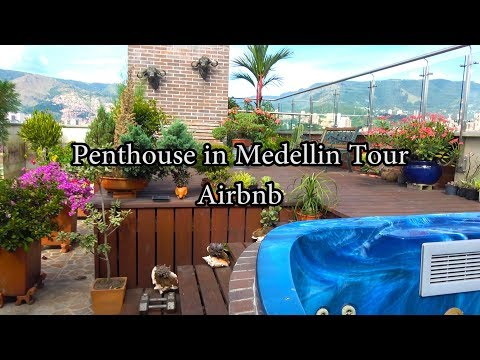 Penthouse in Medellin, Airbnb Tour! Colombia