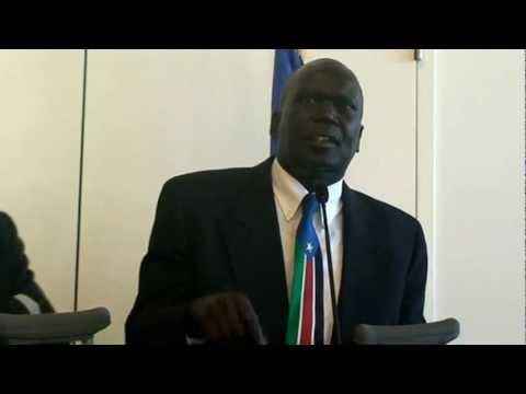 SPLM Arizona Chapter Benjamin Benjamin welcoming Vice President of South Sudan