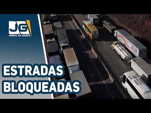 Pelo quinto dia, estradas bloqueadas em todo o País