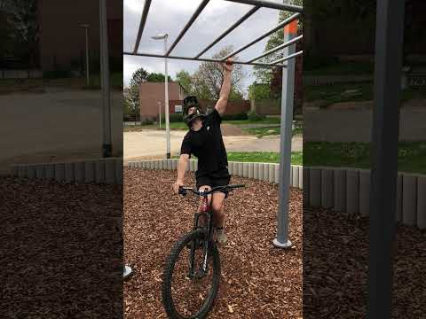 Bar Training Addicted Youngster Goes Mountain Biking