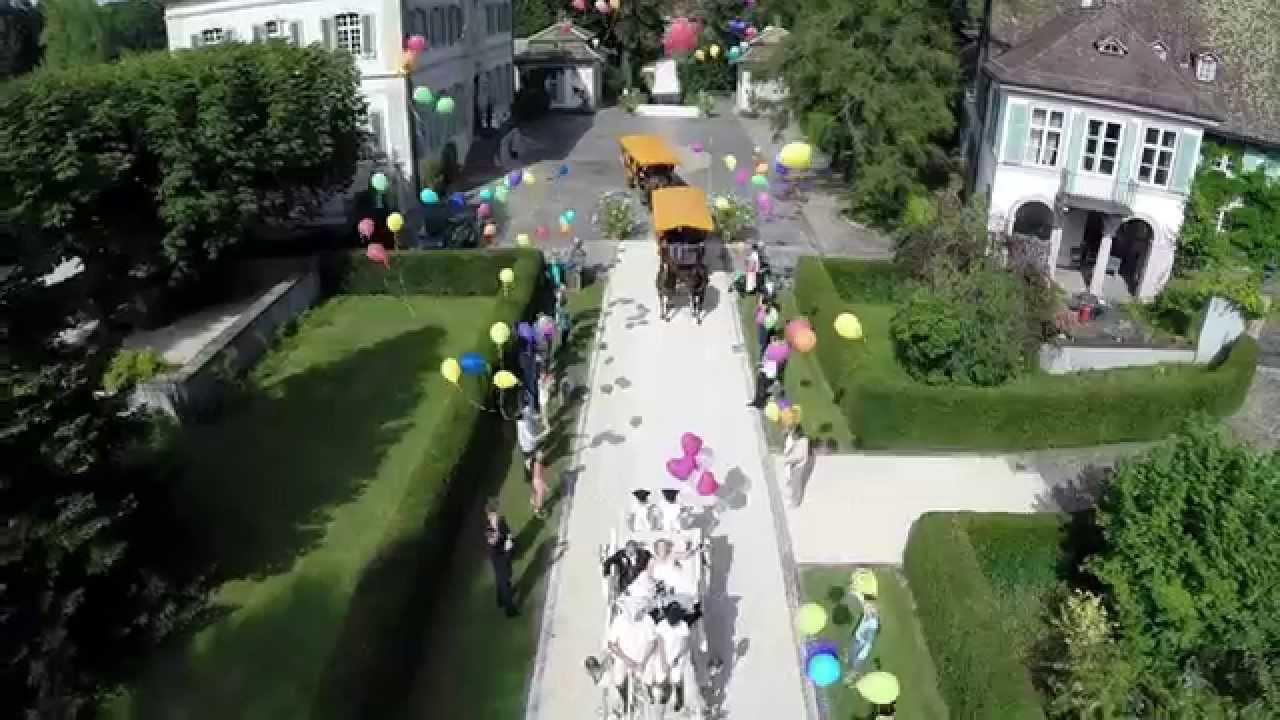 Luftaufnahemen einer schnen Hochzeit Ann  Romano Villa Wenkenhof Riehen  YouTube