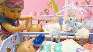 Куклы Беби Бон укладываем спать как мама  Видео для детей Дочки матери для девочек