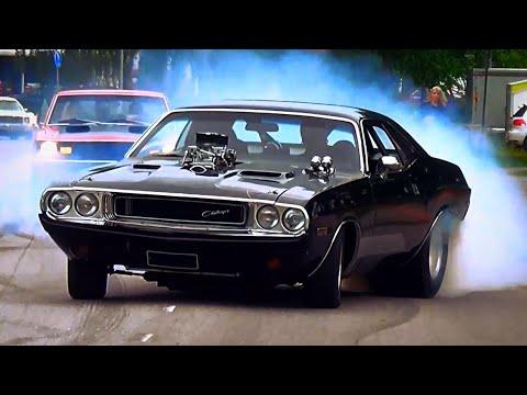 Bad-Ass BLOWN 1970 Dodge Challenger BURNOUTS!