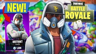 NOVA ATUALIZAÇÃO DO FORTNITE!! * SKIN ABSTRAKT épico * (Battle Royale do Fortnite)