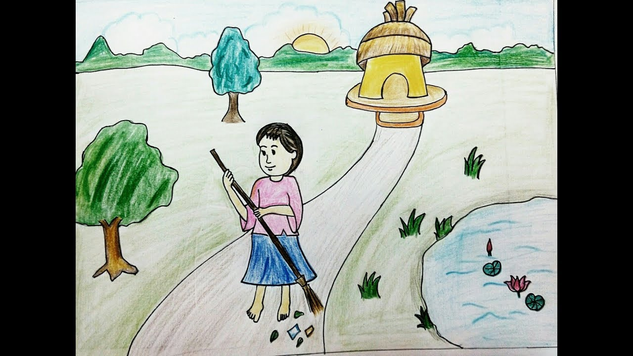 How To Draw Quot Swachchh Bharat Abhiyan Quot Poster Quot Clean