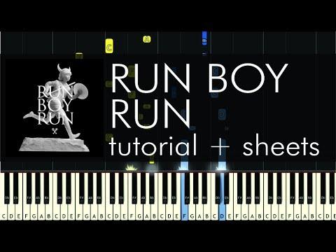 Woodkid - Run Boy Run - Piano Tutorial - How to Play + Sheets