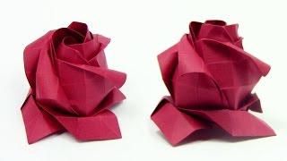 Origami ROSE Phu Tran | Cómo hacer una rosa de origami - Origami easy tutorial
