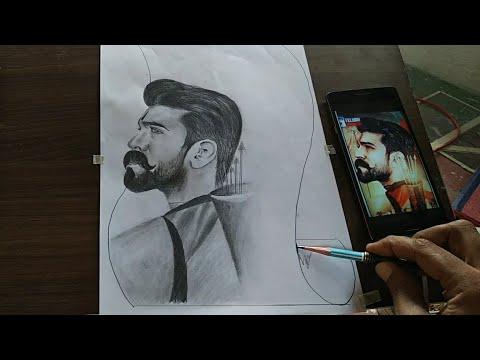 RRR ram charan drawing//how to draw ram charan//ramcharan ...