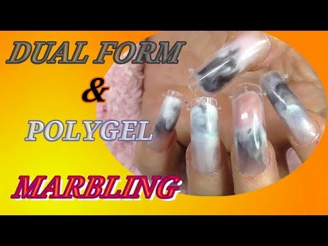 DUAL FORM MARBLING USING POLYGEL | CAN I DO IT? | ABSOLUTE NAILS