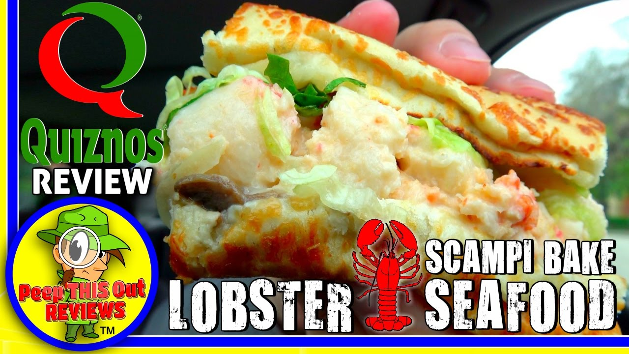 Quiznos�  Lobster & Seafood Scampi Bake Review! П��🍞