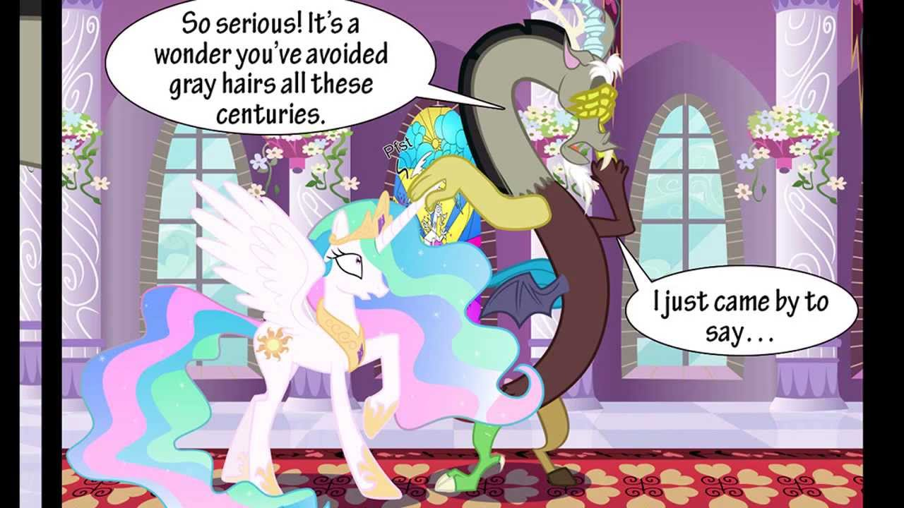 Discord Celestia Comic mlp comic dub: enemy mine with missbunniswan