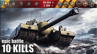 T95 ДУШИТ ОБ СТЕНУ!!! ЖЕСТЬ!!! 🌟🌟🌟 Лучший бой World of Tanks на Т95 вот как играть