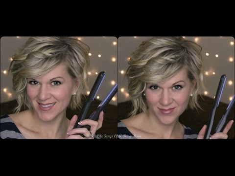 Curly Hair Tutorial For Inverted Or Stacked Bob --Using a Flat Iron