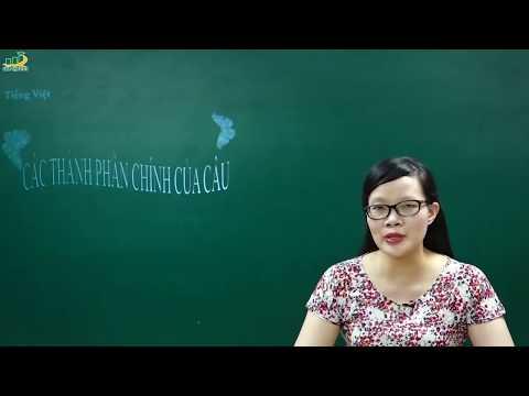 Ngữ Văn Lớp 6 –Bài Giảng Các Thành Phần Chính Của Câu Ngữ Văn 6|Tiếng Việt Từ Và Câu |Cô Lê Hạnh