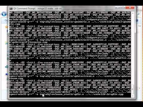 C++ Qt 87 - Static Compile