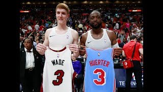 Dwyane Wade Surprises Kevin Huerter With Jersey Exchange | Hawks Rookie Idolizes Him