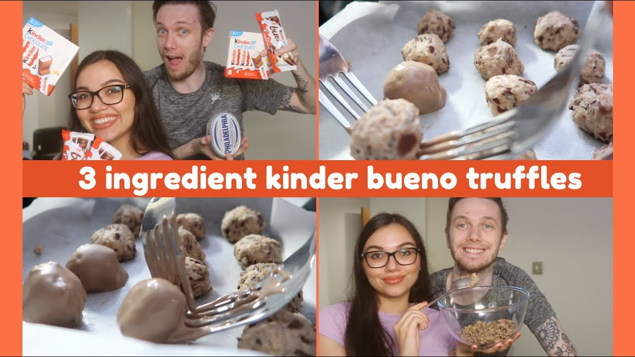 trying to make kinder bueno truffles with 3 ingredients 🍫 // bueno or no bueno???