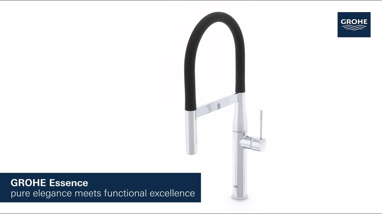 the grohe essence professional functional excellence in a sleek aesthetic youtube. Black Bedroom Furniture Sets. Home Design Ideas