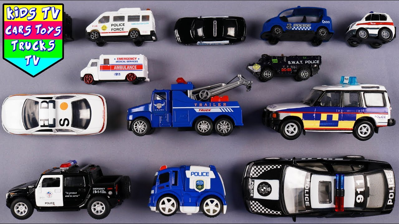 learn police department vehicle for kids children babies. Black Bedroom Furniture Sets. Home Design Ideas