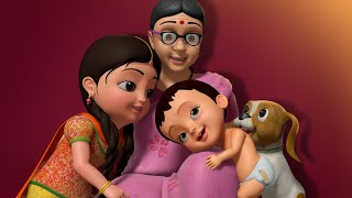 Chinnu and Chitti in Grandma's Home | Bengali Rhymes for Children | Infobells