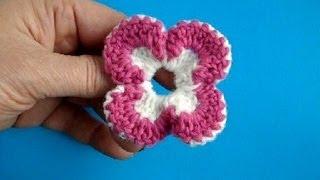 Вязание цветка крючком Урок 10 Crochet flower pattern(Подписаться на все новые видео-уроки по емайл: http://feedburner.google.com/fb/a/mailverify?uri=knittingforbeginners/video http://www.knittingforbeginners.r., 2013-02-17T16:37:37.000Z)
