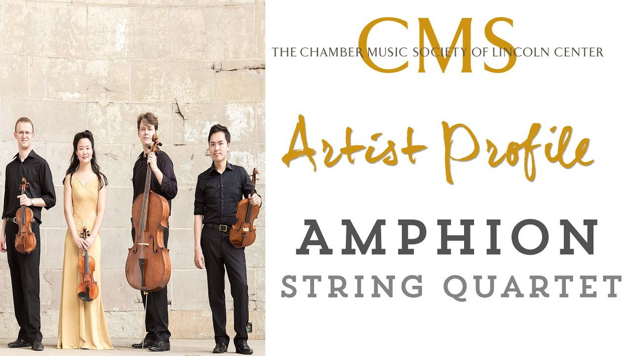 Amphion String Quartet - January 2015 CMS Artist Profile
