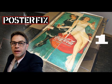 Restoring a Coca-cola Poster from 1936 (The Real Thing)