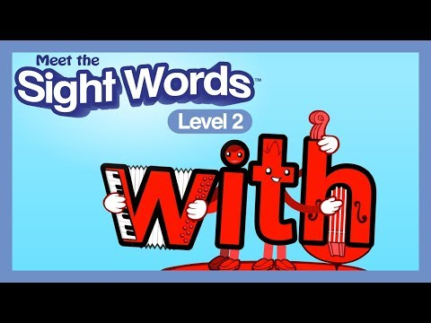 """Meet the Sight Words Level 2 - """"with"""""""
