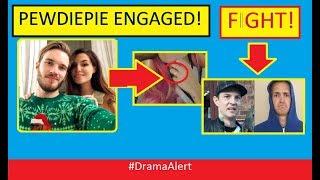 PewDiePie ENGAGED! (FOOTAGE) IRL CRASH! #DramaAlert Ninja vs Deadmau5! Logan Paul vs KSI!