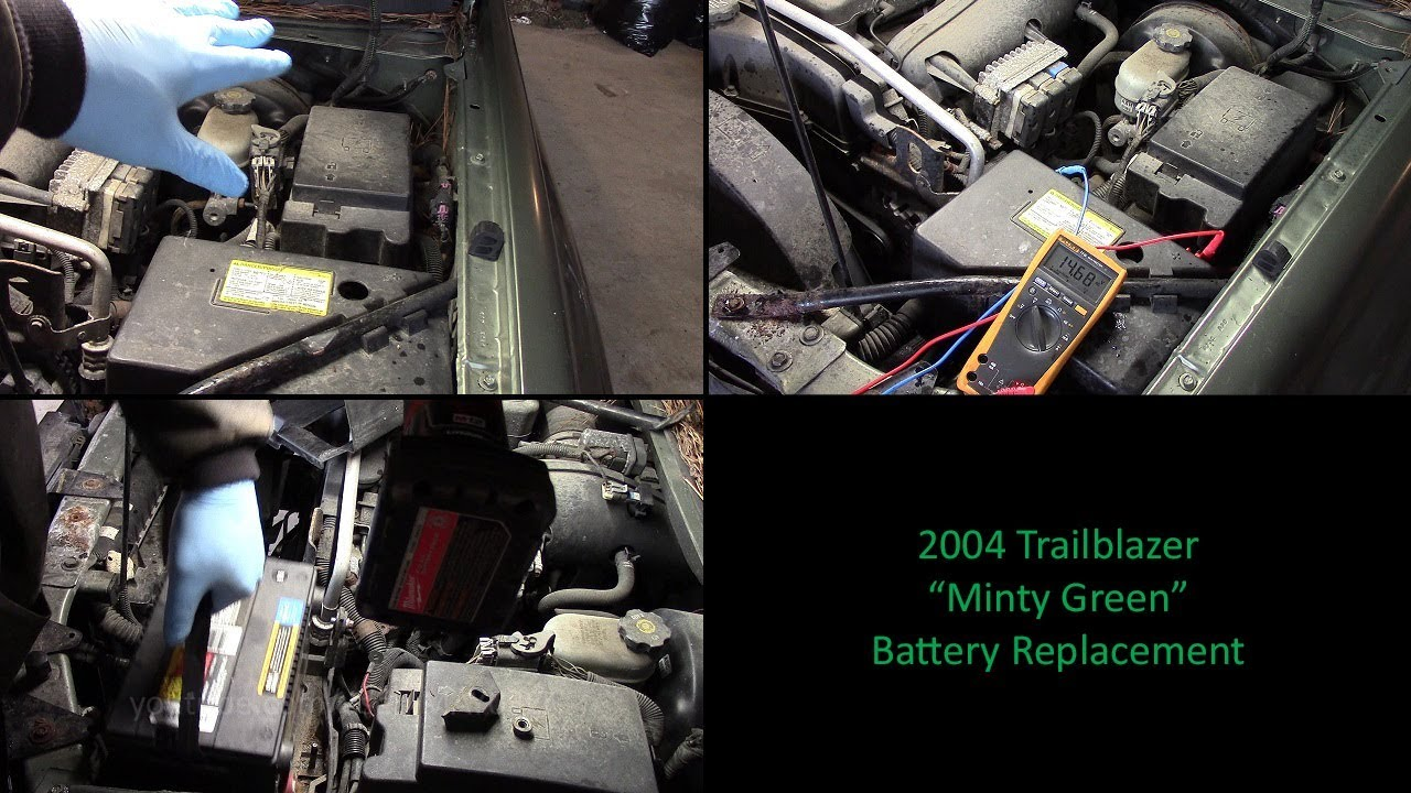 2004 Chevy Trailblazer Battery Replacement 4 2 I6 Youtube