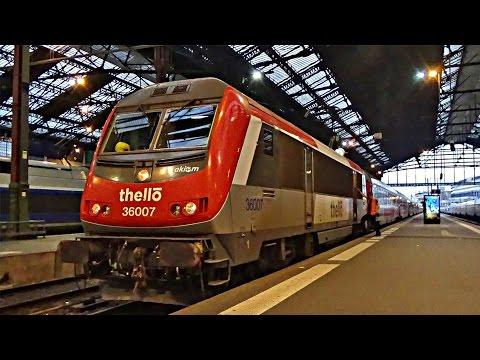 Une soirée ferroviaire en Gare de Paris Gare de Lyon - TGV, TGV Lyria, Théllo