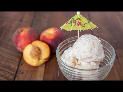 Bebina Kuhinja - Sladoled Sa Breskvama - Domaći Video Recept